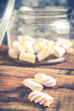 Twisted marshmallows Royalty Free Stock Images