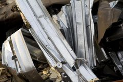 Twisted Metal at Construction Site Royalty Free Stock Photos