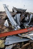 Twisted Metal from Destroyed Building Stock Photo