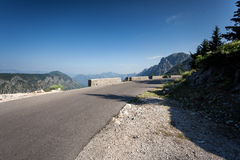 Twisted mountain road at Montenegro Stock Image