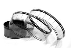 Twisted Movie Film 1 (black and white) Royalty Free Stock Photography