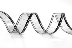 Twisted Movie Film 2 (black and white) Royalty Free Stock Images