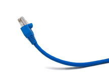 Twisted pair. A cable for connection of computers in a uniform network. The image is isolated on white. Shallow DOF royalty free stock photography