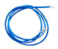 Twisted pair network cable isolated Stock Image