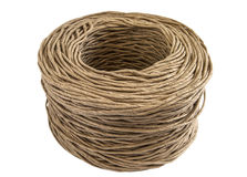 Twisted paper cord roll closeup Stock Photos
