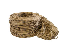 Twisted paper cord roll,flax rope Stock Photography