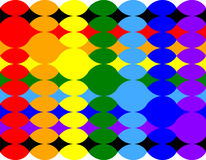 Twisted pattern of ellipses. In colors of rainbow Stock Photos