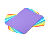 Twisted pile of colorful A4 sheets Stock Images