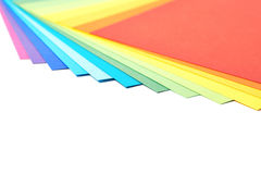 Twisted pile of colorful A4 sheets Royalty Free Stock Photography