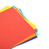 Twisted pile of colorful A4 sheets Stock Photo