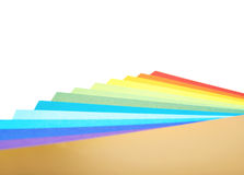 Twisted pile of colorful A4 sheets Stock Photography