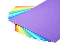Twisted pile of colorful A4 sheets Royalty Free Stock Image