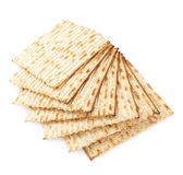 Twisted pile of multiple matza flatbreads Royalty Free Stock Photo