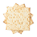 Twisted pile of multiple matza flatbreads Stock Photo