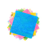 Twisted pile of origami papers Royalty Free Stock Photos