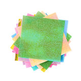 Twisted pile of origami papers Stock Photos