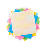 Twisted pile of origami papers Stock Photography