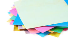 Twisted pile of origami papers Stock Image