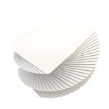 Twisted pile stack of copyspace white plastic cards Stock Photography