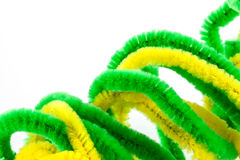 Twisted pipe cleaners Royalty Free Stock Photo