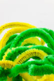 Twisted pipe cleaners Stock Photography