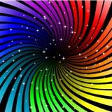 Twisted rainbow. Abstract vector illustration of twisted rainbow rays Stock Photos