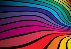 Twisted rainbow colored space. Vector illustration Stock Image