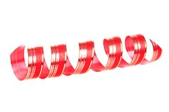 Twisted red ribbon Royalty Free Stock Photos