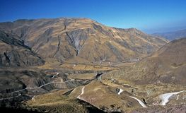 Twisted road,Salta,Argentina. Twisted road in the Mountains,Salta,Argentina Royalty Free Stock Images
