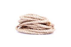 Twisted rope on an isolated background Royalty Free Stock Photo