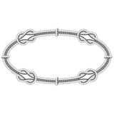 Twisted rope oval - elliptic frame. With knots Royalty Free Stock Images