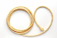 Twisted rope on a white background close up Stock Photography