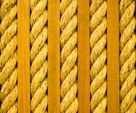 Twisted Rope and Wooden Planks Stock Photo