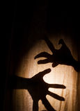 Twisted scary Hands Stock Image