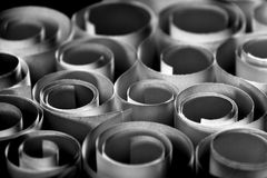 Twisted sheets of paper. Round paper forms makes an interesting texture Royalty Free Stock Images