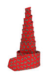 Twisted silk red tie Stock Photo