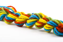Twisted Skein of Wool Yarn Stock Image