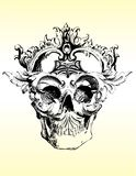 Twisted skull illustration Royalty Free Stock Photos