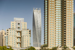 Twisted Skyscraper with Another Buidings at Dubai, UAE Stock Image