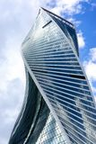 Twisted skyscraper in Moscow city Stock Image