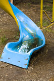 Twisted slide with water Stock Images