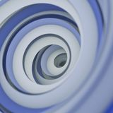Twisted spiral shape abstract 3D render with DOF. Twisted spiral shape. Computer generated abstract 3D render with DOF Stock Images