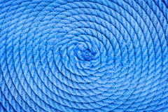 Twisted into a spiral ship rope Royalty Free Stock Image