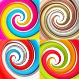 Twisted spiral vortex background Stock Image