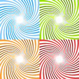 Twisted spirals. Circular rays, beams starburst sunburst patte Royalty Free Stock Photos