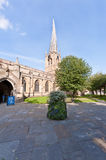 The Twisted Spire of Chesterfield Church Royalty Free Stock Photo