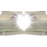 Twisted stack books Stock Images