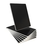 Twisted stack of pad tablet electronic devices Royalty Free Stock Image