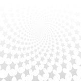 Twisted stars spiral. White & grey abstract background. Royalty Free Stock Photos