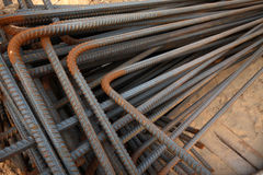 Twisted steel construction materials Stock Photography